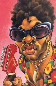 Caricaturas de músicos famosos