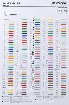 TOHO BEADS - kolory, trwałość