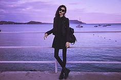 Violet Ell - Saint Laurent Jacket, Backack, Dr. Martens Boots - --