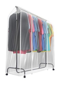 Protect your wardrobe with a clear view! It features a clear design to quickly access your go-to suits or dresses. With 6 ft of coverage, it's ideal for preserving your wardrobe. Rolling Clothes Rack, Rolling Rack, Wine Rack Storage, Closet Storage, Closet Organization, Organizing, Clothes Rail Cover, Transparent Clothes, Hanging Clothes