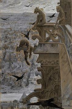 Notre-Dame de Paris. Luc-Olivier Merson (French, 1846-1920).