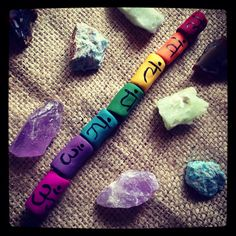 Chakra dread bead set  by thisthatandthese on Etsy, $20.00