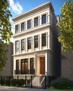 Available — Environs Development, Inc. Neoclassical Architecture, Classic Architecture, Facade Architecture, Facade Design, Exterior Design, Townhouse Exterior, Townhouse Designs, Facade House, Window Design