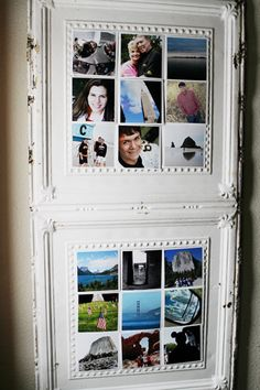I have so many photos sitting in a box. I can't wait to make this. The cool thing is you can switch them out, because you put magnets on the back of the photos. Cool! ~Terri