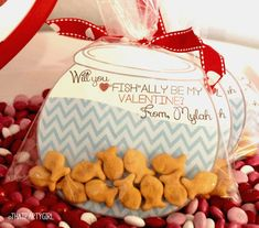 Gold Fish Valentines Day Cards - DIY INSTANT DOWNLOAD - 4 Different Sayings
