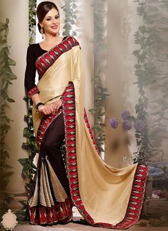Visit at:- http://www.sareebuzz.com/sarees/desirable-faux-georgette-black-and-cream-embroidery-work-saree-3067  Desirable Faux Georgette Black And Cream Embroidery Work Saree  Occasion : Festival Reception  Color : Cream Black  Fabric : Faux Georgette  Work : Embroidered Patch Border  ITEM CODE: 3067  To Order through Phone, Contact :- +91 9974 111 222