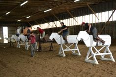 Swing Training On The Wooden Horses