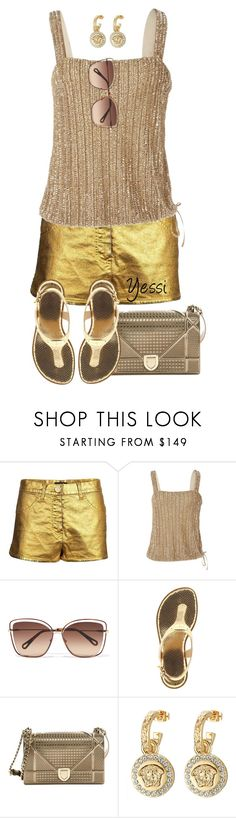 """""""~ 💕 Gold 💕 ~"""" by pretty-fashion-designs ❤ liked on Polyvore featuring Chanel, Ralph Lauren, Chloé, MICHAEL Michael Kors, Christian Dior and Versace"""