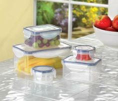 Malibu Creations 38594 Storage Container Set, 10-Piece by Malibu Creations. $12.99. Clear plastic containers with quick-snap lids for effortless closing and an air tight seal. Ideal for keeping your favorite foods fresh. 10-piece set, 5-containers and 5-lids. Quality design. Excellent value. Organization is easy with this handy set of clever containers, sized just right for any storage need. Clear-plastic boxes feature quick-snap lids for effortless closing and a sure seal ...