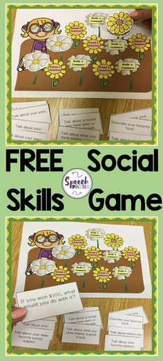 FREE printable game to help students work on conversation skills. A great social skills activity for the Spring!