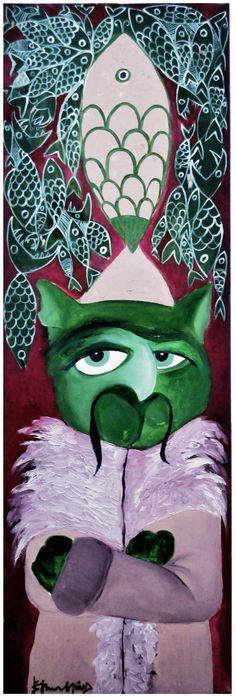Sultan Emerald / Cattoman Empire.              Oil on Canvas - 50x130cm.