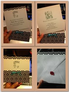 Alice in Wonderland invites I made for my daughter's birthday party