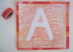Materiais para Atividade durex, papel e giz de cera     Colorir com giz de cera o papel     Pede a criança para puxar o durex e fazer fo... Alphabet Crafts, Letter A Crafts, Letter I, 3 Year Old Activities, Art School, Diy And Crafts, Classroom, Teacher, Creative
