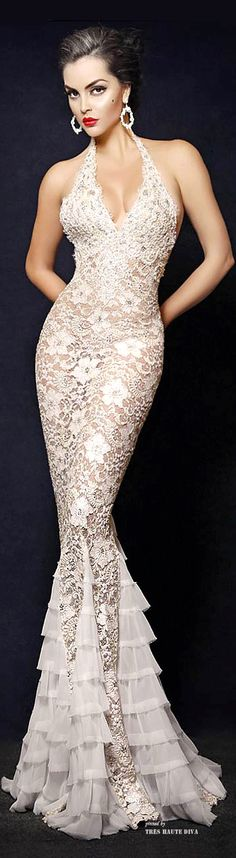 "Camille Flawless Bridal ""Swan' Hand Painted White"