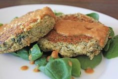 quinoa patties w/ peanut ginger dipping sauce #the joy of clean eating