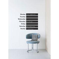 This Week wallsticker i gruppen Posters / Wallstickers / Veggdekor hos ROOM21.no (111001)
