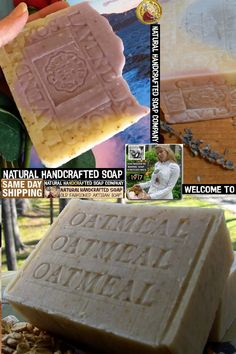 oatmeal and lavender natural soap smells divine but it's also great for your skin. Oatmeal is one of those ingredients for moisturizes and repairs your skin, Cold Process soaps for mom or mamas shop or gift -lovely smells and beautiful looking bars. Oatmeal Soap, Mama Recipe, Homemade Soap Recipes, Organic Soap, Cold Process Soap, Home Made Soap, Handmade Soaps, Organic Skin Care, Lavender