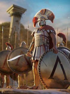 Ancient Sparta, Ancient Rome, Ancient Greece, Fantasy Armor, Medieval Fantasy, Greek History, Ancient History, Greek Soldier, Roman Warriors