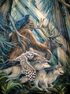 The Sasquatch Legend Jody Bergsma kK Native Art, Native American Art, American Women, Dragons, Finding Bigfoot, Bigfoot Sightings, Bigfoot Sasquatch, Bigfoot Toys, Wildlife Art