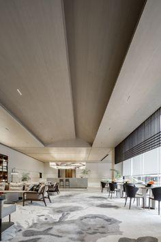 Modern Office Design, Modern Interior Design, Interior Architecture, Modern Offices, Lobby Interior, Modern Chinese Interior, Summer House Interiors, Lounge Design, Design Design
