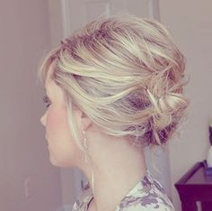 re you a bride with a short haircut? You'll love this style we found! This short pinned updo has just the right amount of volume and elegance for the bride. Take a look... via the small things blog...