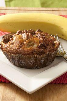 Banana Bran Muffin.  Loaded!