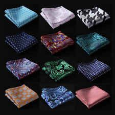 Paisley Floral Men Silk Satin Pocket Square Hanky Wedding Party Handkerchief FE