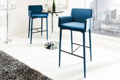 Aqua, Chaise Bar, Style Retro, Elegant, Bar Stools, Royal Blue, Table, Furniture, Home Decor