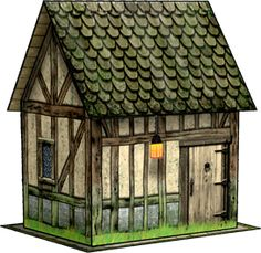 Hovel Paper Model | Dave's Games. free paper model to download and print
