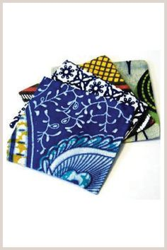 I am in love with these coasters from Indego Africa.