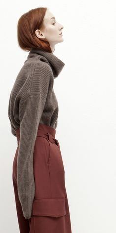 Cozy Cashmere Funnel Neck Sweater | @andwhatelse