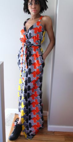 Tie Up Wrap Dress by THEAFRICANSHOP on Etsy, £65.00