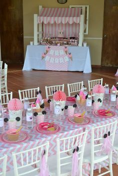 Like the little cups with ears {Minnie's Ice Cream Shop} | CatchMyParty.com