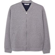 MANGO MANGO Side-Pocket Bomber Jacket ($100) ❤ liked on Polyvore featuring outerwear, jackets, coats & jackets, coats, mango jacket, zip jacket, long sleeve jacket, flight jacket and zipped bomber jacket
