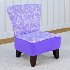 Kangaroo Tween Armless Chair - Tribal Floral Plum - 3075TPLPL