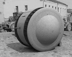 """The Kugelpanzer ... literally """"armored - ball """" It Is one of the most rare and original armored vehicles ever built. A single copy of this reconnaissance vehicle was captured by the Red Army and is currently on display at Kubinka Tank Museum, in the section of the German tanks. The Kugelpanzer is only referred to as """" object 37 """" and is painted in bright gray. The history of this vehicle is unknown."""
