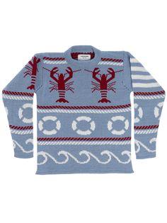 Thom Browne's classic neck men's pullover sweater: $535.00
