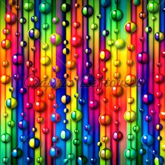 colorful stripes and bubbles