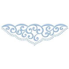 Gunold Embroidery Design: Scroll Border 1.96 inches H x 6.06 inches W