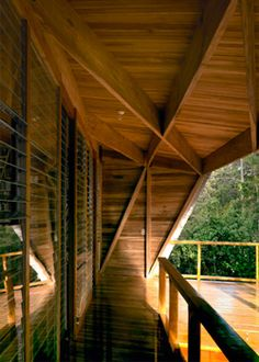 Private house on beachside of Chuita, Costa Rica. This beautiful building, located in Costa Rica, was designed by Gianni Botsford Architects    The following description is from the architect:  'By coupling indigenous techniques and materials with modern design technologies and aesthetics GBA has created this intimate double pavilion for a writer in Costa Rica.