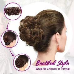 Wear that Easy-To-Wear Stylish Hair Scrunchies confidently everywhere, knowing it makes that hair looks professionally done, even with thin fine hair! Rose Bun, Rose Hair, Professional Updo, Curly Bun, Messy Bun, Cute Updo, Beautiful Buns, Trending Hairstyles, Stylish Hair