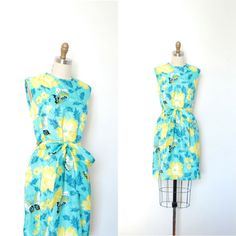 Vintage 1960s Dress / 60s Floral and by lapoubellevintage on Etsy