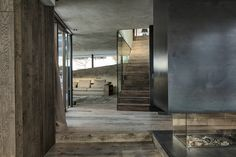 Concrete Mixed With Wood New House in Neutral Colours With Panoramic View Over the Alps by Gogl Architekten