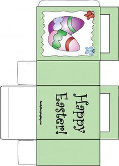 Easter Eggs Bag Favor Box