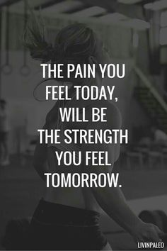 The pain you feel today, will be the strength you feel tomorrow. fitness motivation / workout quotes / gym inspiration / fitness quotes / motivational workout sayings Motivacional Quotes, Life Quotes Love, Quotes To Live By, Daily Quotes, Qoutes, Worst Day Quotes, Best Quotes Ever, Inspire Quotes, Quotes Images