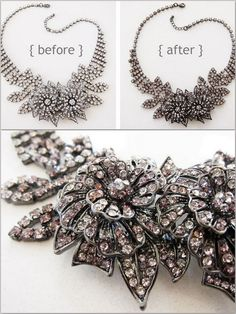 Sharpie Craft Ideas - Vintage looking necklace