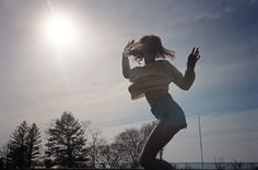 Sun behind, Needs to get a low angle to achieve this Gia Coppola x UO