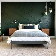 Best Dark Green Paint Colors To Use in Your Home! best dark green paint colors to use in your home Bedroom Green, Home Bedroom, Modern Bedroom, Bedroom Ideas, Dark Master Bedroom, Green Bedroom Design, Contemporary Bedroom, Bedroom Inspiration, Ikea Bedroom