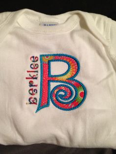 Applique with name
