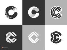 Logo Design Inspiration — c's by George Bokhua Web Design, Icon Design, Typography Logo, Art Logo, Creative Logo, Creative Design, Lettering Design, Branding Design, Logo Luxury